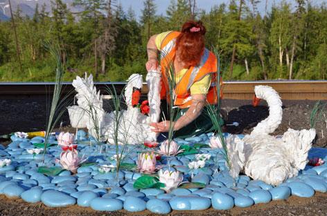 Лебедь из бутылок пластиковых своими руками для